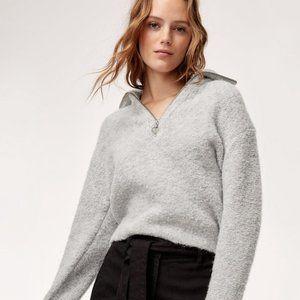 Aritzia Wilfred Free Gwyneth Sweater Cropped quarter-zip